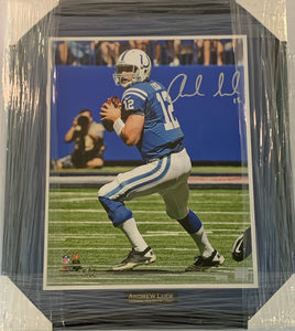 "Andrew Luck Autographed ""Determination"" 5 out of 12 16x20 Framed Photograph"