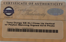Load image into Gallery viewer, Tony Dungy Autographed Super Bowl XLI Close Up 8x10 Photograph