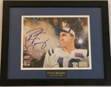 Load image into Gallery viewer, Peyton Manning Autographed Super Bowl XLI Smoke in Background 8x10 Framed Photograph