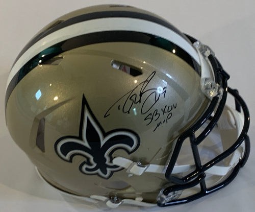 Drew Brees Autographed Authentic Helmet
