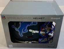 Load image into Gallery viewer, Barry Sanders Autographed Authentic Helmet with 7 Inscriptions