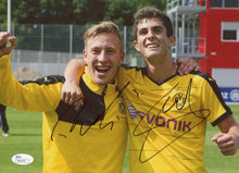 Load image into Gallery viewer, Christian Pulisic & Felix Passlack Signed Borussia Dortmund 8 x 10 Photo