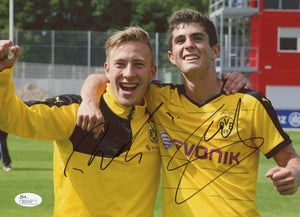 Christian Pulisic & Felix Passlack Signed Borussia Dortmund 8 x 10 Photo