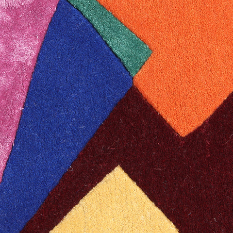 MULTI COLOR GEOMETRIC SHAPE HAND TUFTED CARPET