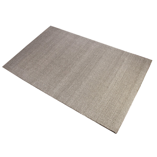 BEIGE AND BROWN DOTTED  NEUTRAL HAND TUFTED RUG