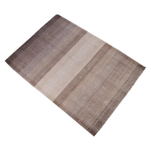 BEIGE AND BROWN DOUBLE COLOR NEUTRAL HAND TUFTED CARPET