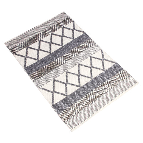 GREY WHITE CHEVRON GEOMETRIC DURRIE RUG