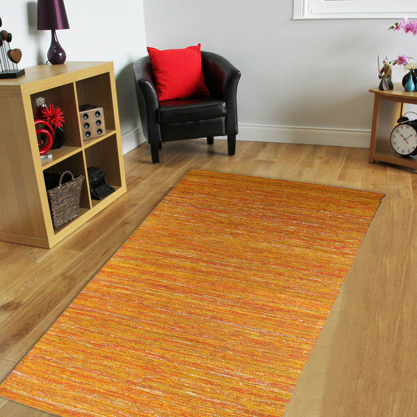 BROWN YELLOW JUTE HAND TUFTED RUG