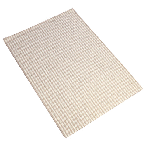 BROWN WHITE NEUTRAL VERTICAL HAND TUFTED RUG