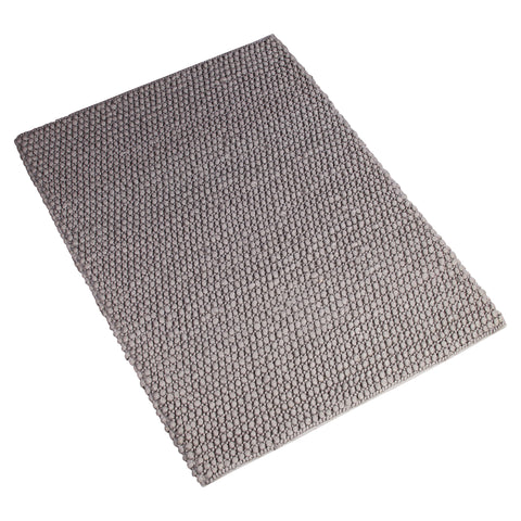 GREY SOLID BRAIDED HAND TUFTED RUG