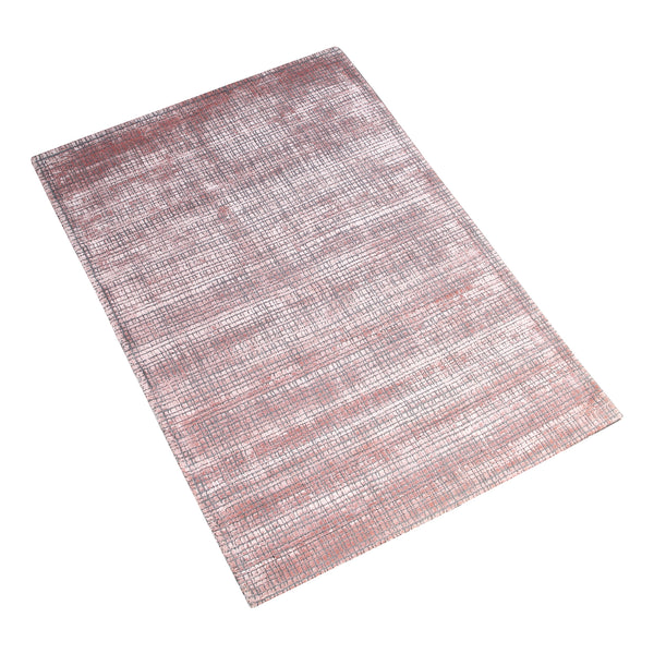 PINK SOLID CHECKED HAND TUFTED RUG