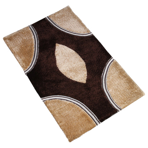 BEIGE BROWN SHAGGY RUG