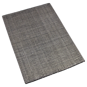 BLACK AND WHITE DOTTED HAND TUFTED RUG