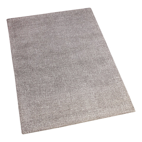 GREY SOLID HAND TUFTED RUG