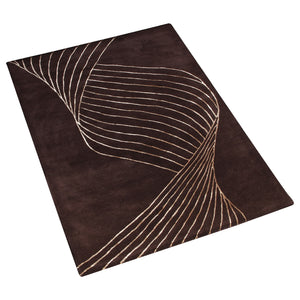 BROWN BESPOKE ABSTRACT HAND TUFTED RUG