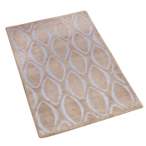 BROWN AND GREY GEOMETRIC HAND TUFTED RUG