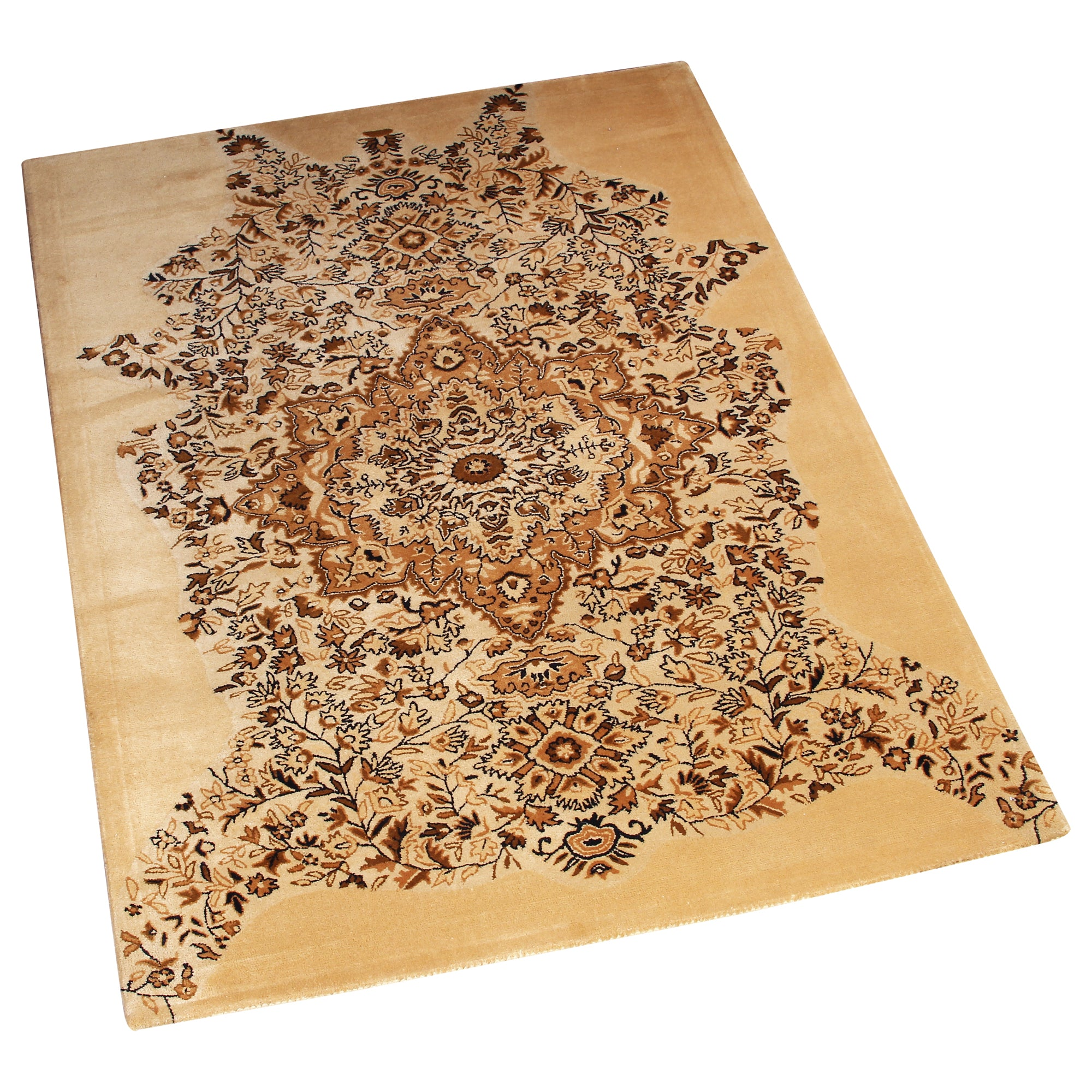 BEIGE PERSIAN HAND TUFTED RUG