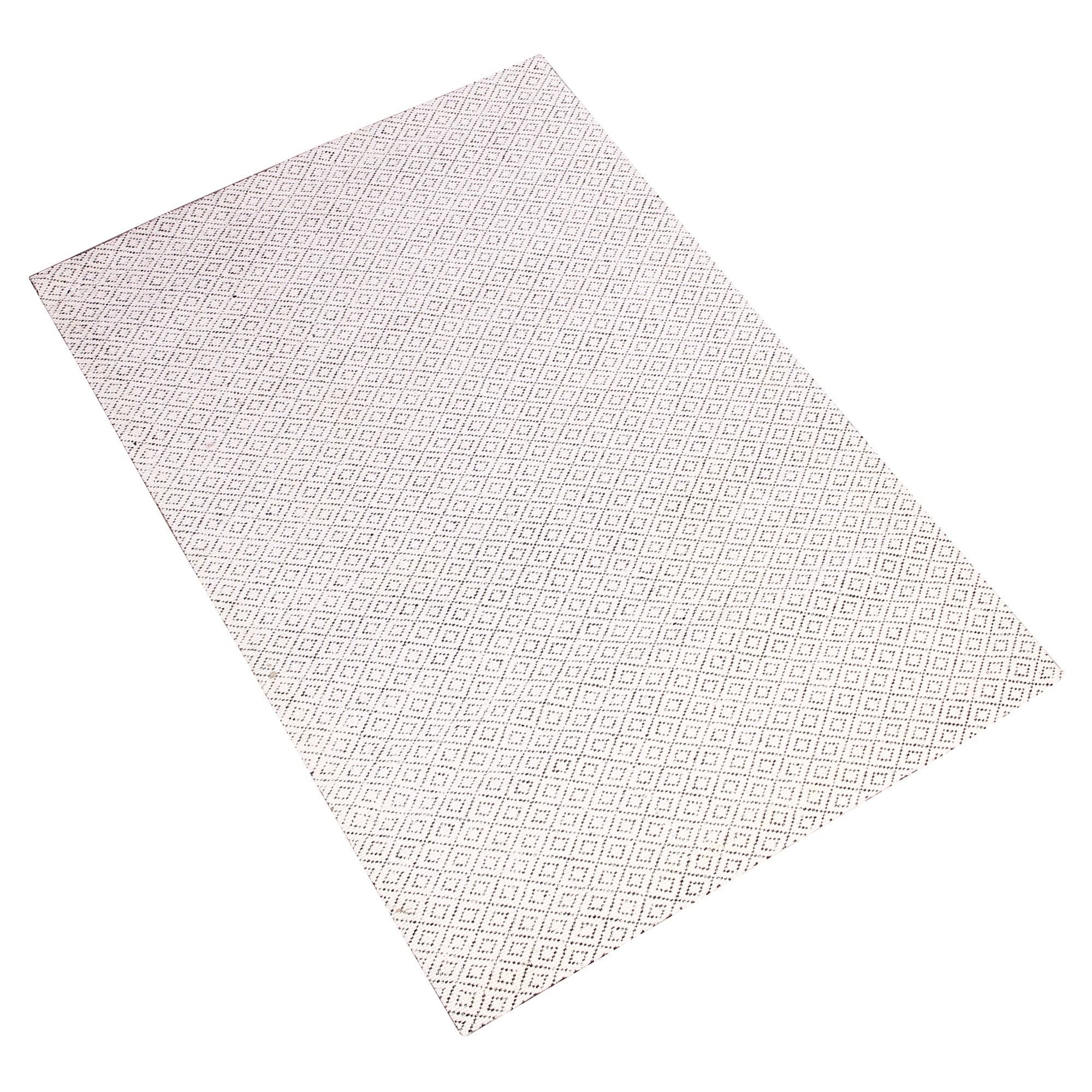 WHITE AND BEIGE HAND TUFTED RUG