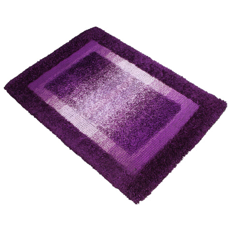 PURPLE BLUE 3D SHAGGY RUG