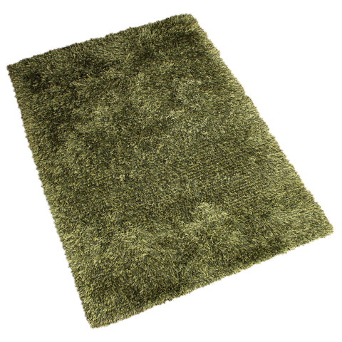 GREEN SOLID SHAGGY RUG