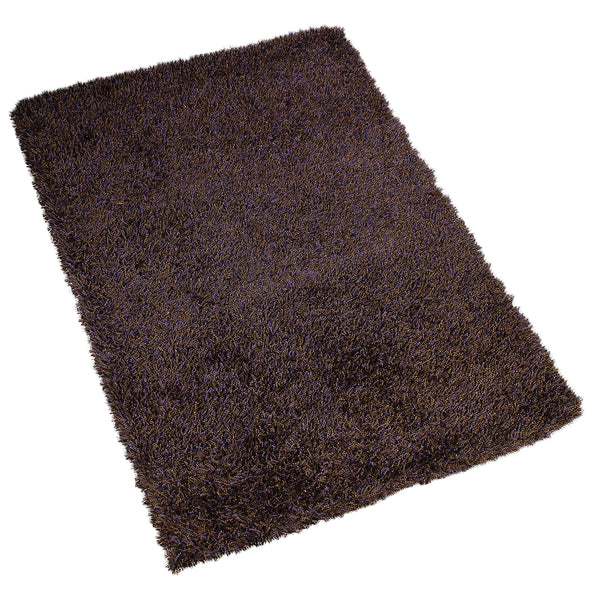 BROWN SOLID SHAGGY RUG