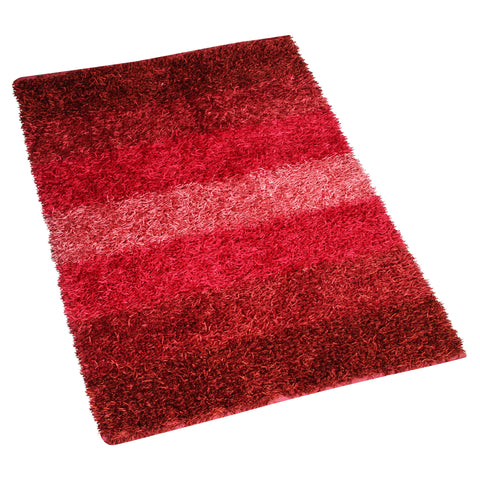RED MAROON WHITE MULTI COLOR SHAGGY RUG