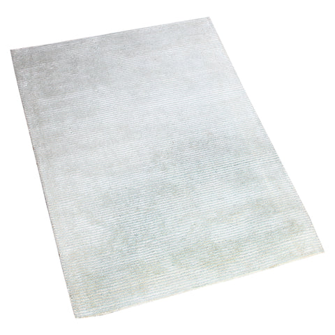 BLUISH GREY EMBOSSED STRIPES HAND TUFTED RUG