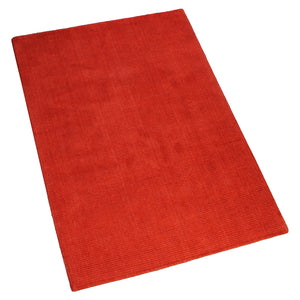 RED SOLID HAND TUFTED RUG