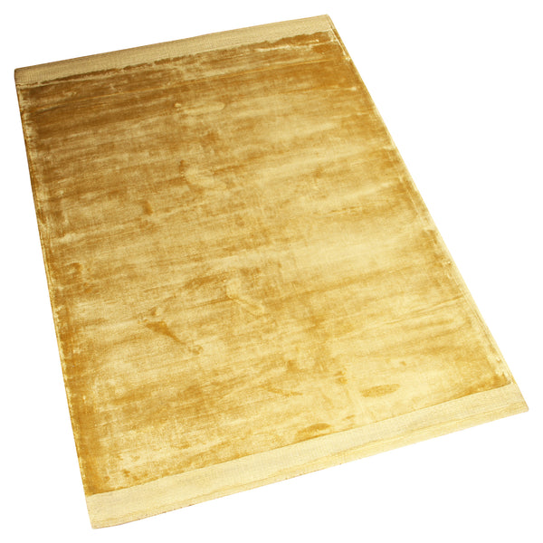 BEIGE SILK SOLID BORDER HAND TUFTED RUG