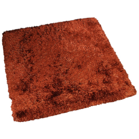 RUST SOLID SHAGGY RUG
