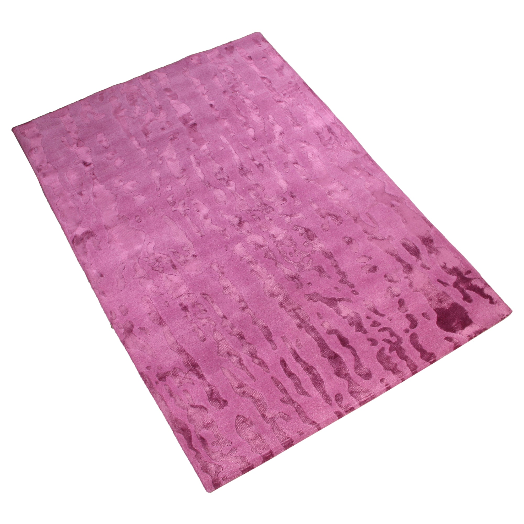 PURPLE DIP DYED EMBOSSED SILK TOUCH HAND TUFTED RUG