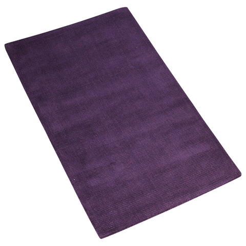 PURPLE SOLID HAND TUFTED RU