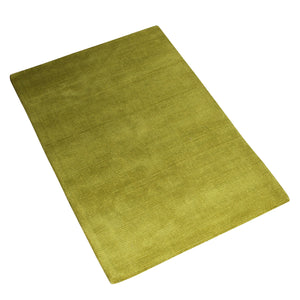 OLIVE GREEN SOLID HAND TUFTED RUG