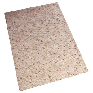 BEIGE MAROON ABSTRACT HAND TUFTED RUG