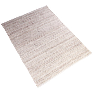 BEIGE BROWN BRAIDED CHEVRON DURRIE RUG
