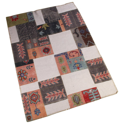 GREY SUZANI MULTI COLOR JQUARD RUG