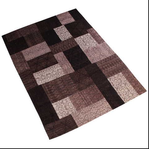 BROWN BEIGE SUZANI JQUARD HAND TUFTED RUG