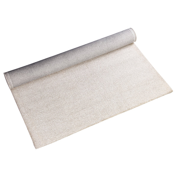 BEIGE NEUTRAL JQUARD HAND TUFTED RUG