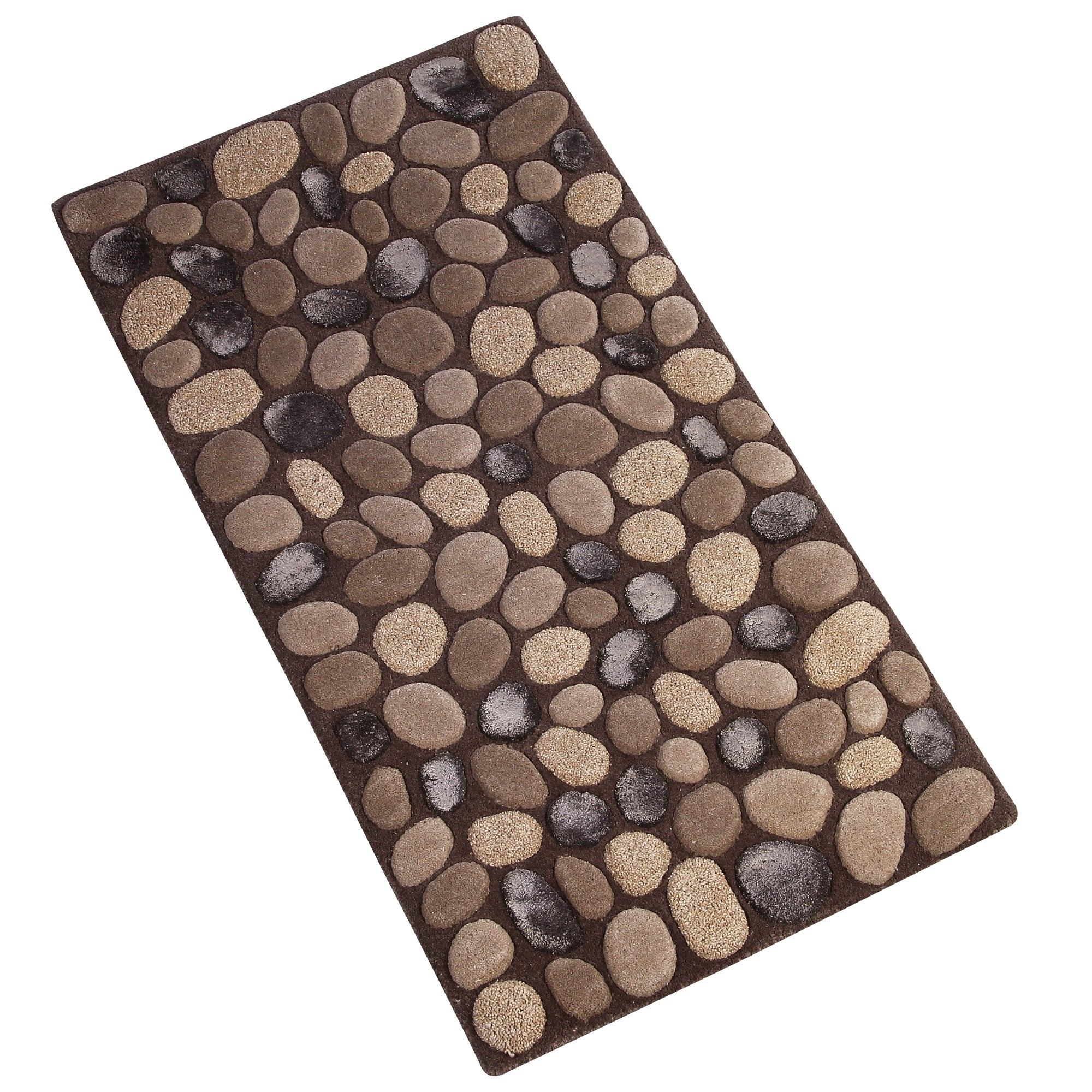BROWN PEBBEL RUNNER HAND TUFTED RUG