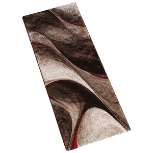 BROWN BEIGE ABSTRACT RUG