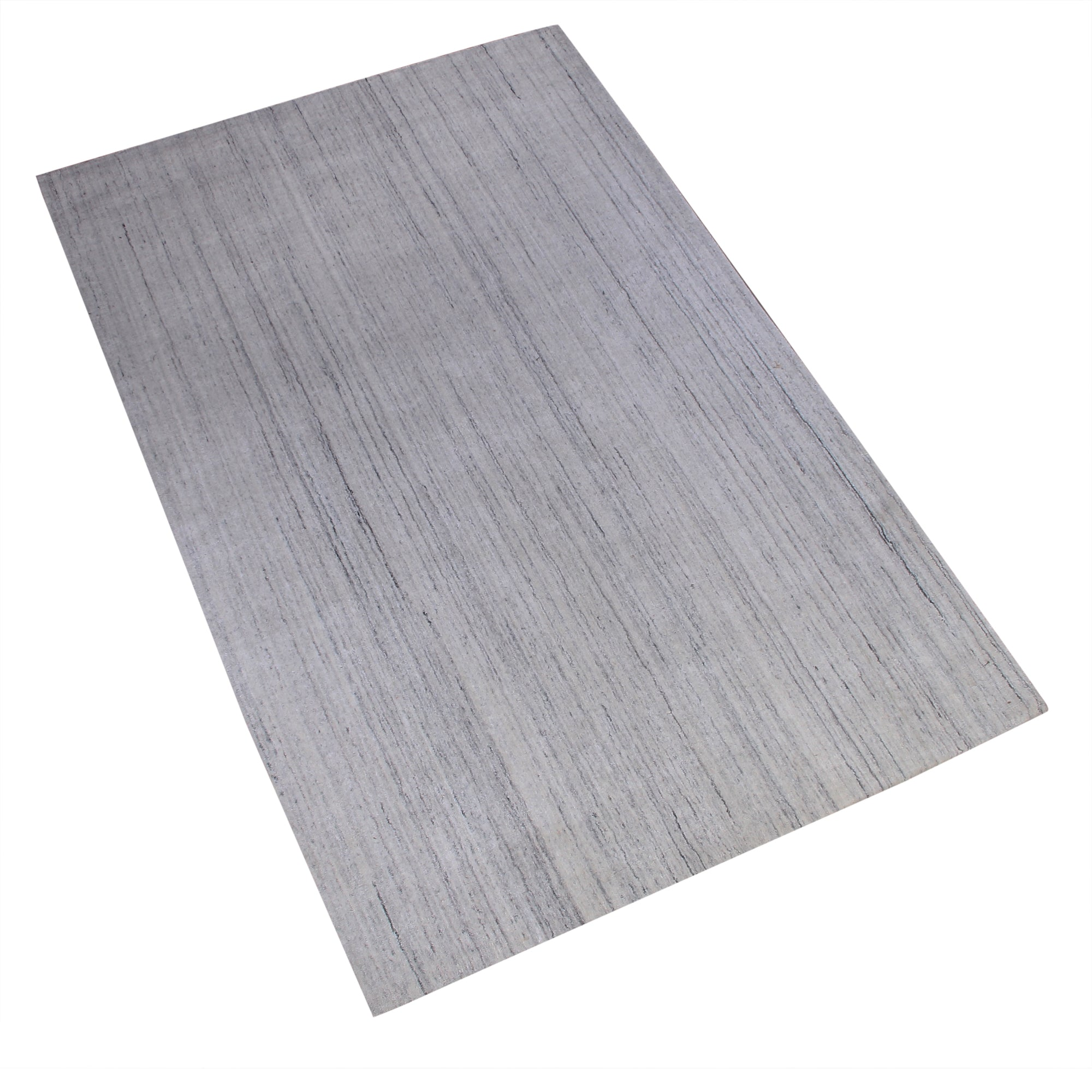 GREY WHITE STRIPE HAND TUFTED RUG
