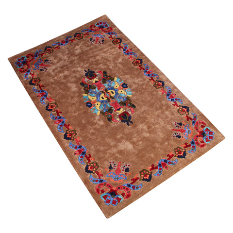 BROWN PERSIAN HAND TUFTED RUG