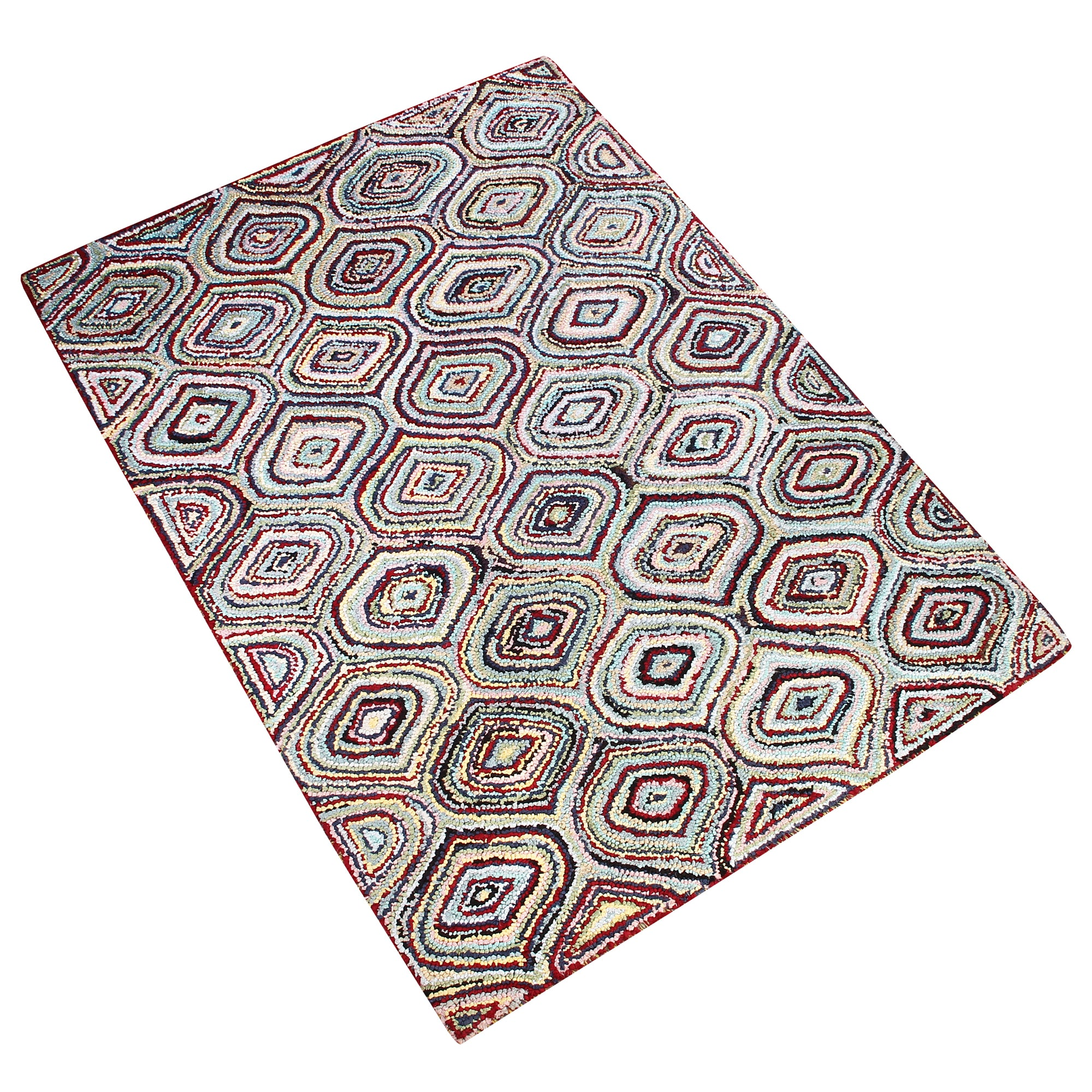 MULTI COLOR GEOMETRIC HAND TUFTED RUG