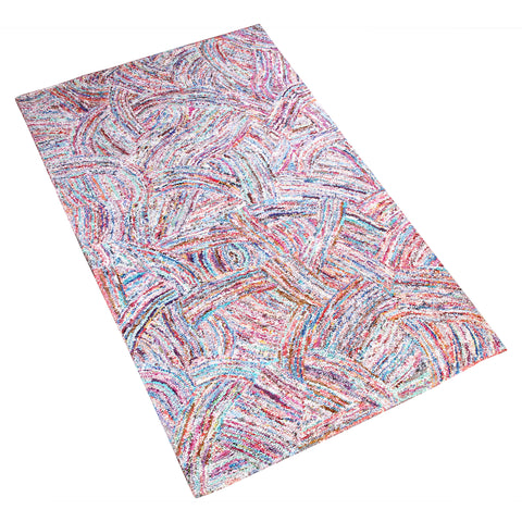 MULTI COLOR ABSTRACT GEOMETRIC HAND TUFTED RUG