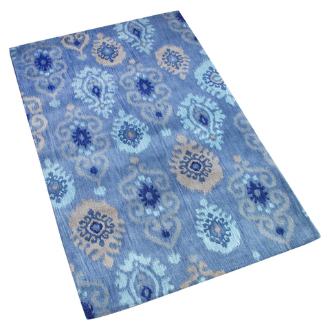 BLUE SUZANI HAND TUFTED RUG