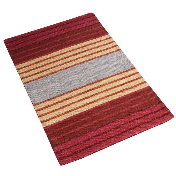 MULTI COLOR HORIZONTAL DESIGN HAND TUFTED RUG