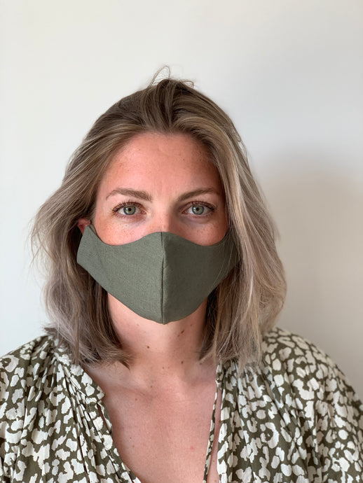 Atelier Lout | face mask linen army green