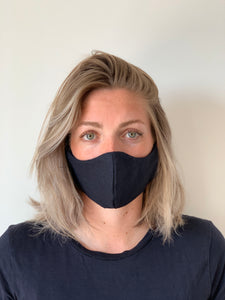 Atelier Lout | face mask linen navy