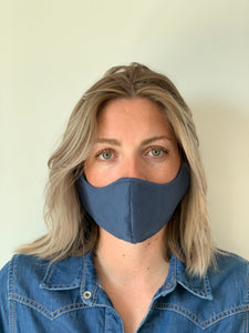 Atelier Lout | face mask linen blue