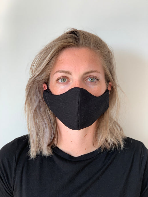 Atelier Lout | face mask linen black